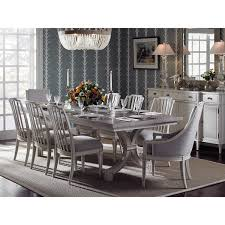 dining room rectangular extendable dining table with upholstered