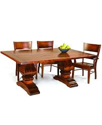 wilmington trestle dining table amish direct furniture