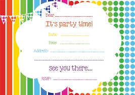 free birthday invitations birthday party invitations surprising rainbow birthday invitations