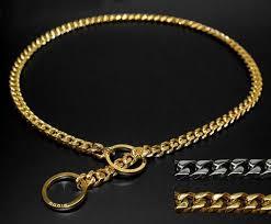 chain link collar necklace images Thin link chain dog collar barking bullies jpg
