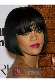 jet black short hair full lace wigs 10 inch 1 jet black short bob with bangs