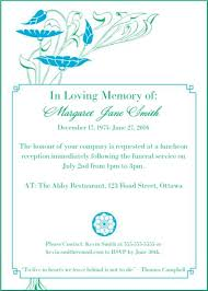 funeral service announcement wording 39 best funeral reception invitations lives on