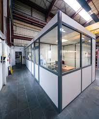 cloison aluminium bureau cloison amovible vitrée de bureau ou pleine ossature aluminium 54