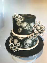skull wedding cakes skull and flowers wedding cake cake by meme s cakes cakesdecor