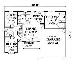 3 Bedroom 2 Bath Open Floor Plans 259 Best House Plans Images On Pinterest Small House Plans