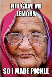 Indian Memes - lovely old indian woman with a fly on the forehead jodhpur india