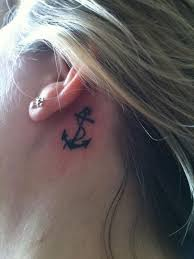 collection of 25 back ear black anchor with