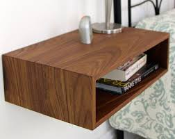 Floating Nightstand With Drawer Floating Nightstand With Drawer In Walnut Mid By Krovelmade My