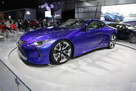 purple lexus the lexus lc500h at the montréal auto show luxurycarmagazine en
