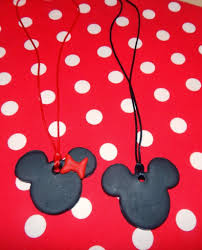 minnie u0026 mickey mouse polymer clay pendants ole mom