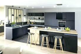cuisines photos cuisine noir mat ambiance ractro cuisine noir mat sans poignee