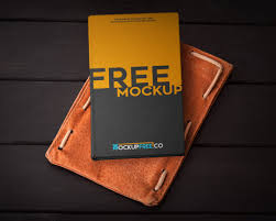 leather photo book hardcover book with leather mockup mockupworld