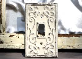 Shabby Chic Light Switch Covers by Switch Plate Single Switch Plate Creamy Light Switch Plate Cover