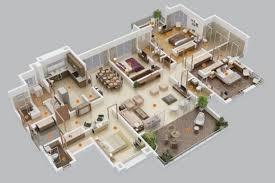 four bedroom house plan inspiring 4 bedroom house floor plans 3d 3 modern four plan in
