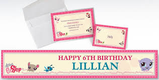 custom littlest pet shop invitations u0026 thank you notes party city