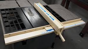 how to make a wooden table saw fence youtube