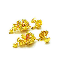 earrings gold design brand new 22k 22ct 916 bis hallmark precious gold earrings jhumkas