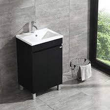free standing kitchen sink cabinet sliverylake 20 inch free standing bathroom vanity cabinet with 2 doors undermount resin sink and chrome faucet combo black