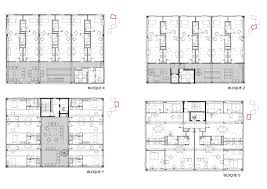 Architectural Building Plans by World Of Architecture University Housing By Guallart Architects