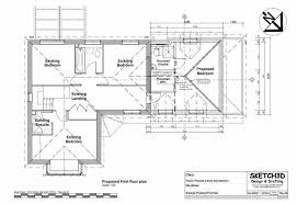 Second storey house extension design Proposed first floor plan