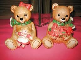 Home Interior Bears Homco Home Interior Collective Vintage Pair Of Bedtime