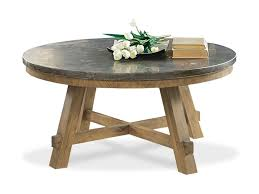 round particle board table top riverside furniture weatherford round cocktail table with authentic