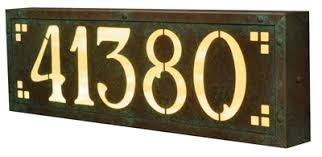 lighted address signs plaques and house numbers sale