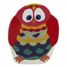 Purple Owl Rug Hand Tufted Wool Beige Kids Animal Kid U0027s Owl Rug Owl Rug And