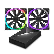 120mm rgb case fan nzxt aer rgb 120mm starter pack custom pc dubai pc components