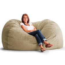 Large Bean Bag Chairs Original Fuf Chair 6 Ft Xl Wide Wale Corduroy Bean Bag Sofa