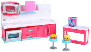 Kitchen Sets For Girls Amazon Com Shopkins Chef Club Spot Kitchen Playset Toys U0026 Games