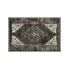 Crate And Barrel Rug Anice Black Hand Knotted Oriental Style 8 U0027x10 U0027 Rug Crate And Barrel