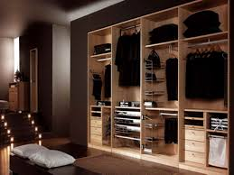 masculine men walk in closet organization idea feats wooden