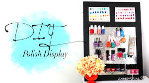 Cute Home Decor Websites Diy Cute Nail Polish Magnetic Board Anneorshine U0026 Cutepolish