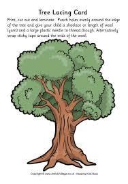 tree lacing card