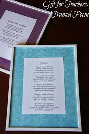 Halloween Poems For Teachers Teacher Appreciation Gift A Framed Poem The Lovebugs Blog