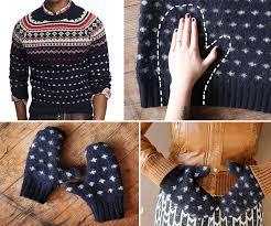 sweater mittens how to warm sweater mittens sew handimania