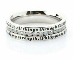 bible verse rings your story custom text stackable bands in 14kt gold silver