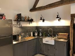meuble cuisine inox brossé cuisine en bois sur mesure de charme