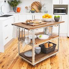 mobile kitchen island plans diy mobile kitchen island or workstation steel shelving components