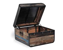 Reclaimed Boat Wood Furniture Retro Wooden Truck Solid Wooden Trunk Vintage Style Table