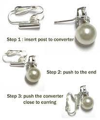 how to convert clip on earrings to pierced earrings easily and permanently adapt a post earring to be worn as a clip