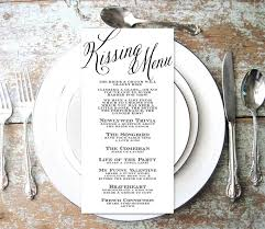 Dinner Party Question Games - kissing game wedding kissing menu wedding reception game