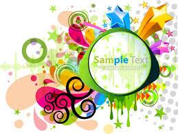 colorful designer abstract modern colorful design vector graphic free vector