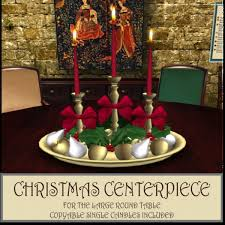 Christmas Flower Table Decorations by Second Life Marketplace Dinner Party Ii Large Round Table