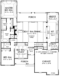 Fireplace Floor Plan Country Style House Plan 3 Beds 2 Baths 1983 Sq Ft Plan 929 638