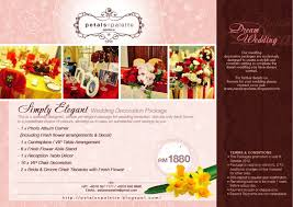 Wedding Packages Prices Wedding Decoration Package Wedding Corners