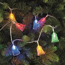 100 traditional multi coloured led bell tree lights
