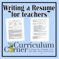 Sample Resume Objectives For New Teachers by Resumes For Teachers Free Resume Example And Writing Download