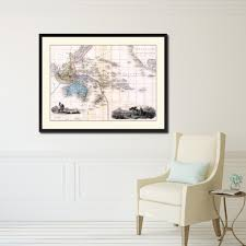 oceania australia new zealand vintage antique map wall art bedroom
